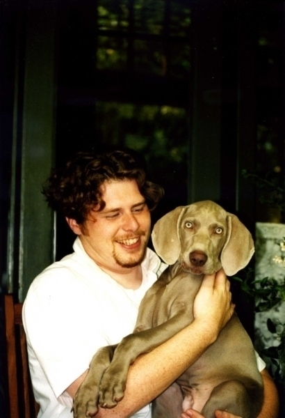 In de Villa Wadwerd in Usquert met Job de Jonge en Pingus in de zomer van 2000