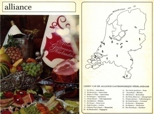 Alliance Gastronomique Néerlandaise 1967