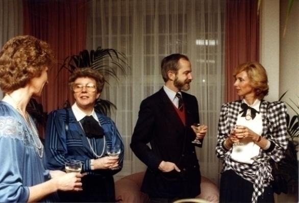 Marga van den Heuvel, Truus Hooft, Herry Padberg en Els Kool