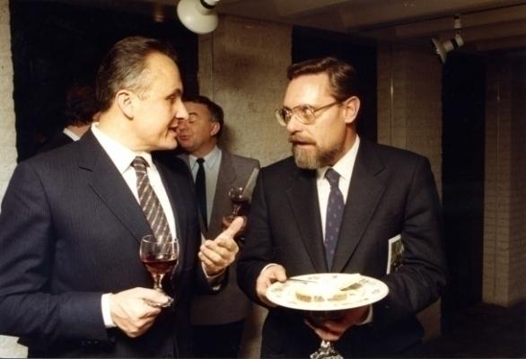 Angelo Gaja en Carlo Romeggio