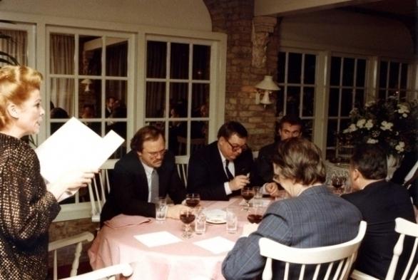 vlnr Ine Droogh-Goossens, Heinz Winkler, Thomas Lepeltak, Hubrecht Duijker, Carlo Romeggio, Angelo Gaja