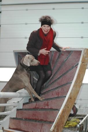 Ine heeft een trap gevonden voor Leo en Marijke die in de school 'Klein Voorhout' in Scheemda wonen