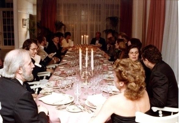 Genodigden diner