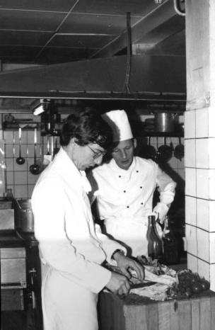 Jan de Wit (Le Restaurant) in de leer bij Chef Adriaan de Jong in 1979