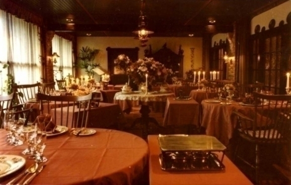 Interieur restaurant De Graaf van het Hoogveen in 1976-1983