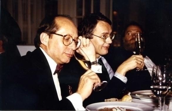 vlnr Pierre Tari, Hubrecht Duijker en Hans Gerd Kübel