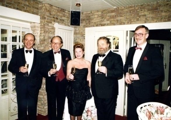 vlnr Jean-Baptiste Lechère, Pierre Tari, Ine Droogh-Goossens, Hans Gerd Kübel, Hans van Gelderen