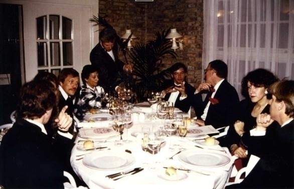vlnr Gert Crum, Pauline Vroom, Hans Josef Decker, Fon Zwart, Martin Klöti, Hans van Gelder, Cila van der Endt, Siebe Terband