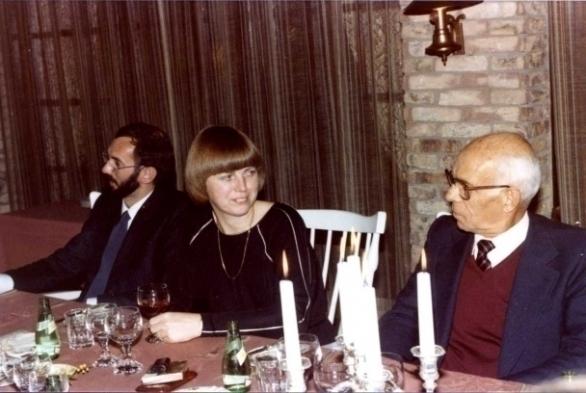 vlnr René Verkerk, Hiskje Wielinga en Monsieur Canet