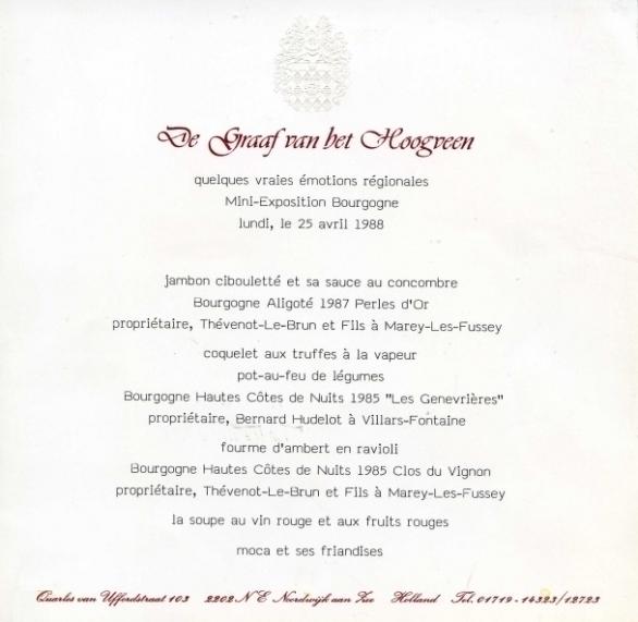 Menu Mini-Exposition Bourgogne