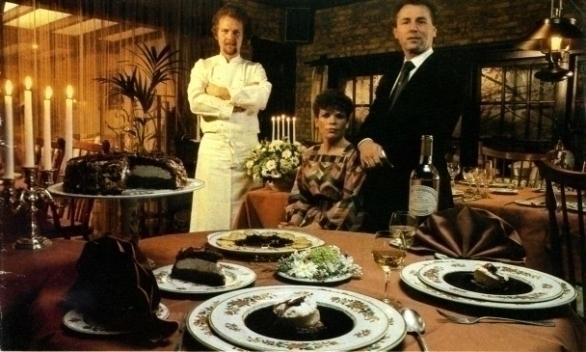 Ine Droogh-Goossens, Joop Droogh en chef de cuisine Henk Savelberg (Savelberg *)