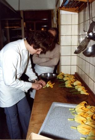 demonstratie waaier van fleur de courgettes