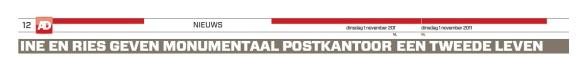 Ine en Ries geven monumentaal Postkantoor een tweede leven