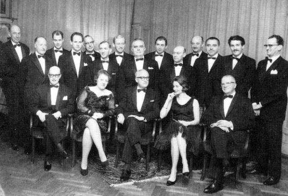 het eerste jaardiner Alliance Gastronomique Néerlandaise in 1967 in Prinses Juliana