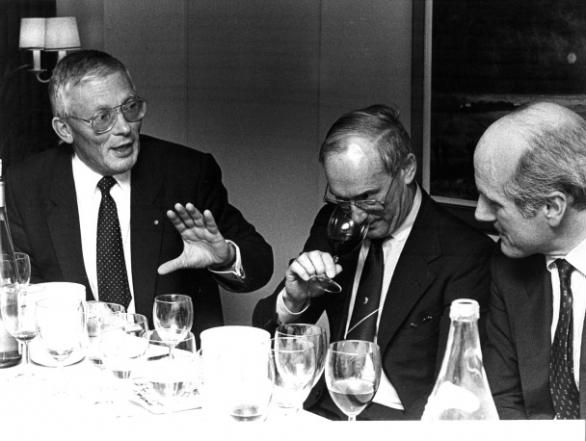 vlnr Hans Martens, Jan Vergouwen en Gerard van der Veen