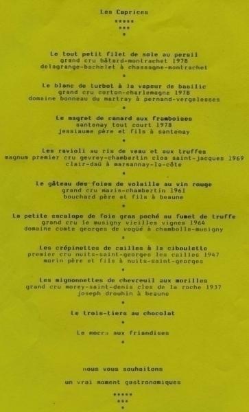 menu 13 maart 1982