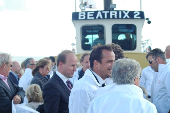 VVD Vicevoorzitter Mark Verheijen wacht in spanning op de eerste oesters die komen gaan