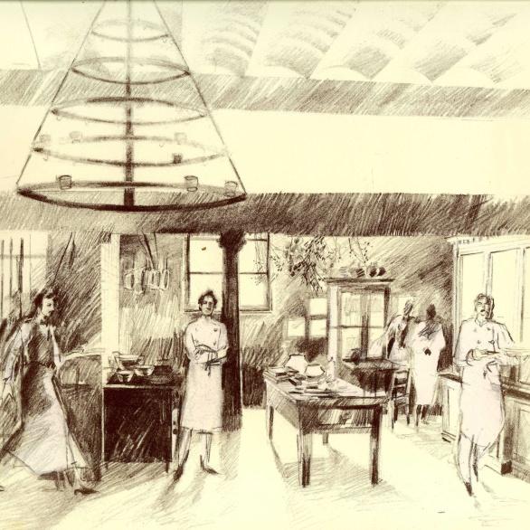 Illustratie van Roger Souvereyns op Scholteshof