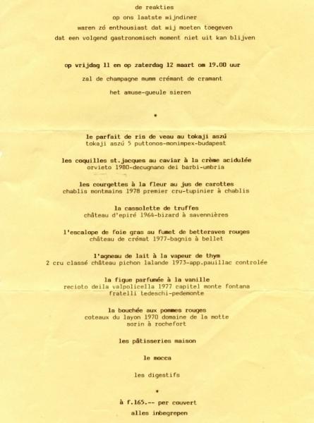 wijndiner maart 1983