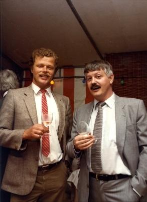 vlnr Ron Sanders, Wijnand Vogel