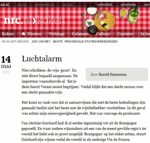 NRC koken | Harold Hamersma | 14 mrt 2015 | Luchtalarm